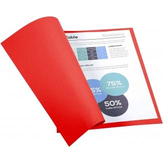 Exacompta Forever 410012E- Subcarpeta de cartulina reciclada, A4, 250 gr/m2, color rojo