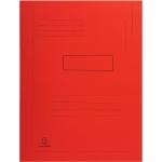 Exacompta Forever 445003E - Subcarpeta de cartulina reciclada, dos solapas, A4, 280 gr/m2, color rojo