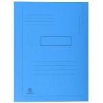 Exacompta Forever 445006E - Subcarpeta de cartulina reciclada, dos solapas, A4, 280 gr/m2, color azul