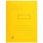Exacompta Forever 445009E - Subcarpeta de cartulina reciclada, dos solapas, A4, 280 gr/m2, color amarillo