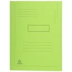 Exacompta Forever 445013E - Subcarpeta de cartulina reciclada, dos solapas, A4, 280 gr/m2, color verde