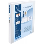 Exacompta Kreacover 51840E - Carpeta canguro, 4 anillas mixtas de 16 mm, tamaño A4+, color blanco