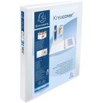 Exacompta Kreacover 51843E - Carpeta canguro, 4 anillas mixtas de 40 mm, tamaño A4+, color blanco