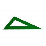 Faber-Castell 666 - Cartabón de metacrilato, sin graduación, cateto mayor de 16 cm, color verde