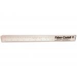 Faber-Castell 853-B - Escala triangular de plástico, con funda, 30 cm, 1:100, 1:200, 1:250, 1:300, 1:400 y 1:500