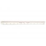 Faber-Castell 153-B - Escala triangular de plástico, sin funda, 30 cm, 1:100, 1:200, 1:250, 1:300, 1:400 y 1:500