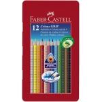 Faber-Castell 9112413 - Lápices de colores acuarelables, caja metálica de 12 colores