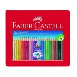 Faber-Castell 9112423 - Lápices de colores acuarelables, caja metálica de 24 colores