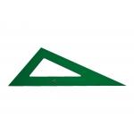Faber-Castell - Cartabón de metacrilato, sin graduación, cateto mayor de 25 cm, color verde