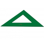 Faber-Castell - Escuadra de metacrilato, sin graduación, hipotenusa de 21 cm, color verde
