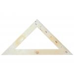 Faibo 233 - Escuadra de plástico para encerado, hipotenusa de 50 cm