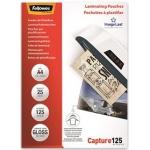 Fellowes 5396301 - Fundas para plastificar, A4, 125 micras, caja de 25
