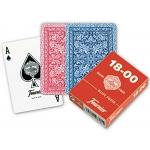 Fournier 18-00 - Baraja de cartas póker inglés y bridge, 55 cartas