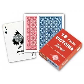 Fournier 18 - Baraja de cartas póker inglés y bridge, 55 cartas