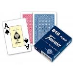 Fournier 818 - Baraja de cartas póker inglés y bridge, 55 cartas