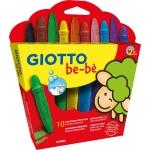 Giotto Bebe 479200 - Ceras duras, caja de 10 colores