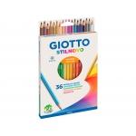 Giotto Stilnovo F25670000 - Lápices de colores, caja de 36 colores