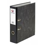 Grafoplás 07189100 - Archivador de palanca, tamaño folio, lomo estrecho, con rado, color negro jaspeado