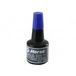 Horse 251101 - Tinta para tampón, frasco de 30 ml, color azul