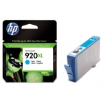 HP 920 XL - Cartucho de tinta original CD972A, cían