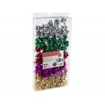 Lazos Liderpapel fantasía medianos colores metalizados surtidos caja de 100 lazos