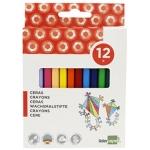 Liderpapel BD25 - Ceras duras, caja de 12 colores