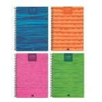Liderpapel Classic - Agenda anual, tamaño A5, impresión semana vista, tapa polipropileno, encuadernada con espiral, colores surtidos