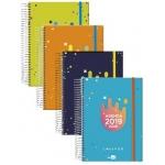 Liderpapel College - Agenda escolar, tamaño A5, impresión día página, tapa forrada, encuadernada con espiral, cierre con goma