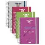 Liderpapel College - Agenda escolar, tamaño A5, impresión día página, tapa polipropileno, encuadernada con espiral, cierre con goma