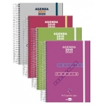 Liderpapel College - Agenda escolar, tamaño A5, impresión dos día página, tapa polipropileno, encuadernada con espiral, cierre con goma
