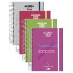 Liderpapel College Mini - Agenda escolar, tamaño 110x150 mm, impresión día página, tapa polipropileno, encuadernada con espiral, cierre con goma