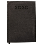 Liderpapel Creta - Agenda anual, tamaño 15x21 cm, impresión semana vista, color negro