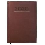 Liderpapel Creta - Agenda anual, tamaño 17x24 cm, impresión semana vista, color burdeos