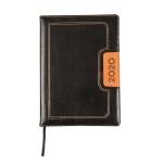 Liderpapel Dorios - Agenda, tamaño 17x24 cm, impresión día página, encuadernada, color negro y naranja