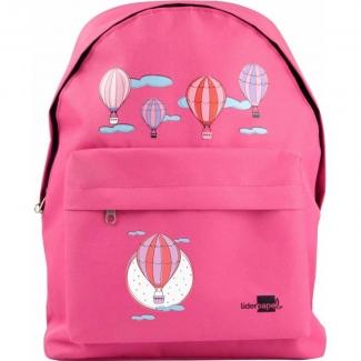Liderpapel ME07 - Mochila escolar, decoración globos, color rosa