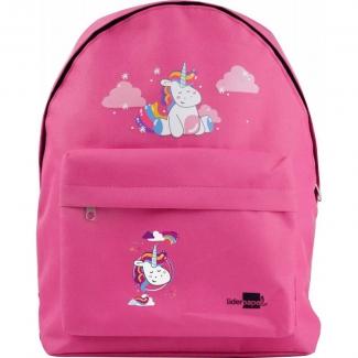 Liderpapel ME08 - Mochila escolar, decoración unicornio, color rosa