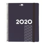 Liderpapel Olbia - Agenda, tamaño 15x21 cm, impresión día página, tapa polipropileno metalizado, encuadernada con espiral, color azul