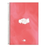 Liderpapel Syros - Agenda anual, tamaño 15x21 cm, impresión día página, tapa rígida, encuadernada con espiral, color rojo