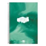 Liderpapel Syros - Agenda anual, tamaño 15x21 cm, impresión día página, tapa rígida, encuadernada con espiral, color verde