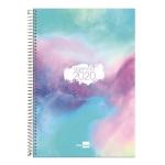 Liderpapel Syros - Agenda anual, tamaño 15x21 cm, impresión día página, tapa rígida, encuadernada con espiral, multicolor