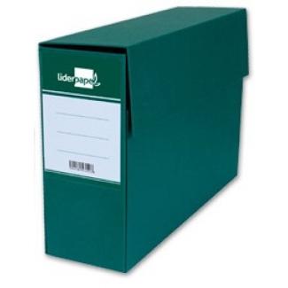Liderpapel TR02 - Caja de transferencia, tamaño folio, con fuelle, color verde