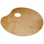 Lidercolor A15442 - Paleta de madera, ovalada, tamaño 20 x 30 cm