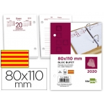 Liderpapel 08084 - Taco calendario sobremesa, catalán, tamaño 110x80 mm.