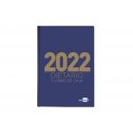 Liderpapel 162659 - Dietario, tamaño cuarto, color azul