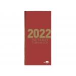 Liderpapel 162660 - Dietario, tamaño octavo, color rojo