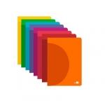 Liderpapel 360º LF03 - Libreta grapada, tamaño A5, tapa de plástico, 48 hojas de 90 gr, cuadrícula de 4 mm, con margen, colores surtidos