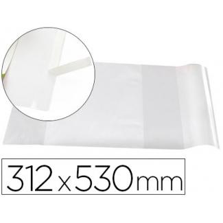 Liderpapel AD10 - Forralibro ajustable nº 31, con solapa adhesiva, pvc, 312 x 530 mm