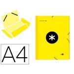 Liderpapel Antartik AW11 - Carpeta de cartón con gomas, con tres solapas, tamaño A4, color amarillo fluorescente