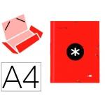Liderpapel Antartik AW16 - Carpeta de cartón con gomas, con tres solapas, tamaño A4, color rojo