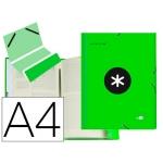 Liderpapel Antartik AW29 - Carpeta clasificadora con gomas, una solapa, tamaño A4, 12 departamentos, color verde fluorescente